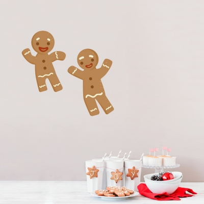 Gingerbread Men Standard Printed Wall Decal