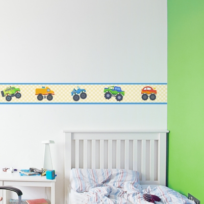 Monster Truck Border Removable Wallpaper Border