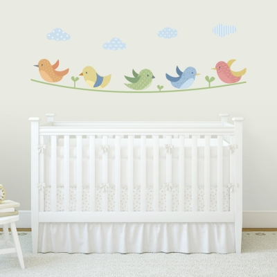 Cute Pattern Birds Printed Wall Decals