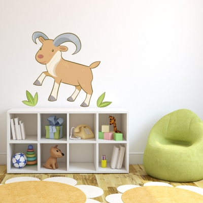 Baby Ram Printed Wall Decal