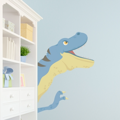 Dino Peekaboo Printed Wall Decal