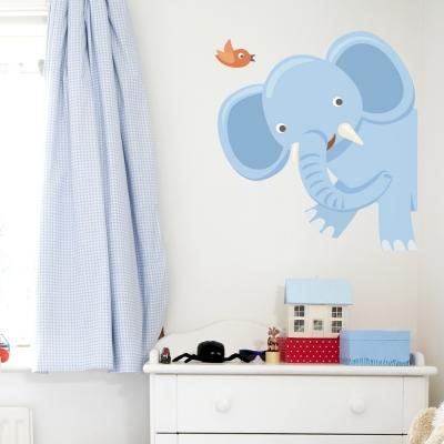 Peekaboo Elephant Printed Wall Decal