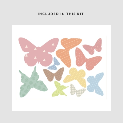 Pattern Butterflies Printed Wall Decal Kit