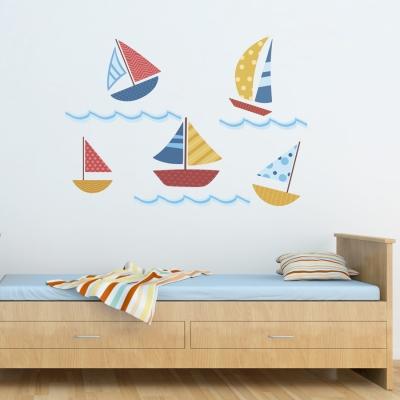 Sail Boats Printed Wall Decal