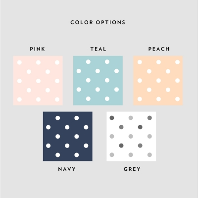 Polka Dot Border Color Options