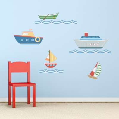 Sea Boats Printed Wall Decal