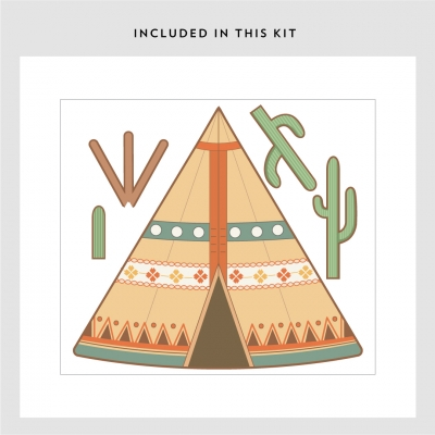 Southwestern Tepee Printed Wall Decal