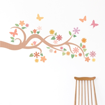 Spring Branch Printed Wall Decal