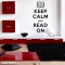 Keep Calm and Read On Wall Decal