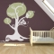 Swirly Bird and Owl Tree Wall Decal