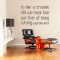 To live a creative life wall decal