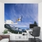 Sky High Snowboarder Office Wall Mural