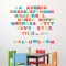 Moveable Alphabet - Printed Wall Decals