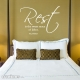 Rest is wall decal quote