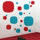 Squared circles wall decal