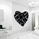 Solid stained glass heart wall decal