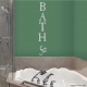 Bath 5 cents... Wall vinyl decal removeable sticker