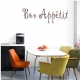 Bon Appetit Wall Art Vinyl Decal Sticker Quote