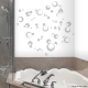 Bubbles removeable vinyl Wall art Decal Sticker