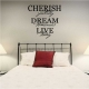 Cherish Yesterday Dream Tomorrow Live Today Wall Art Vinyl Decal Sticker Quote