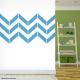 Chevron Stripes Vinyl Wall Art Decal