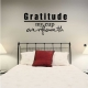 Gratitude My Cup Overfloweth Wall Art Vinyl Decal Sticker Quote