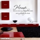 Home where wall decal quote