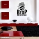 Bring your own popcorn wall decal quote
