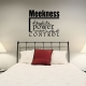 Meekness wall decal quote