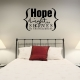 Hpe the light wall decal quote