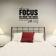 When you focus wall decal quote