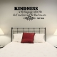 Kindness wall decal quote