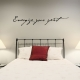 Energize wall decal quote