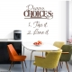 Kitchen Dinner Choices: 1 Take It 2 Leave It Wall Art Vinyl Decal Sticker Quote