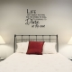 Life isn't wall decal quote