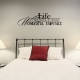 Life itself wall decal quote