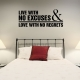 Live with wall decal quote