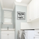 Wash Dry Fold Repeat Laundry Wall Decal