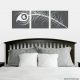 Peacock Feather Triptych Wall Decal