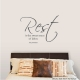 Rest is the sweet sauce of labor Wall Art Vinyl Decal Sticker Quote