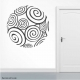Rounded Spiral Wall Art vinyl decal removeable sticker