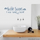 Splish! Splash! I was taking a bath... Wall Art vinyl decal removeable sticker