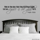 This is wall decal quote
