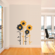 Sunflower wall decal cut sheet