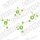 Sci Fi Molecule removeable vinyl Wall art Decal Sticker