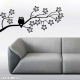 Cute owl on a branch wall decal