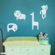 Jungle Animals wall decal