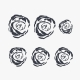 Roses Wall Art vinyl decal removeable sticker