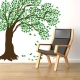 Large windy tree wall decal