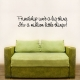 Friendship wall decal quote